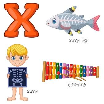 Ilustración del alfabeto x