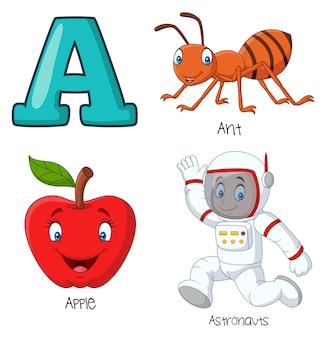 Ilustración de un alfabeto