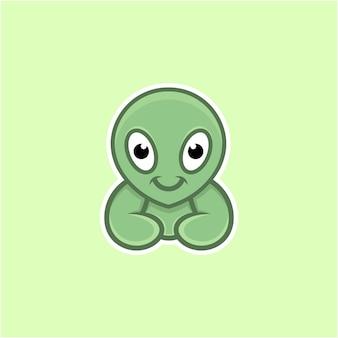 Ilustración alienígena en estilo de dibujos animados