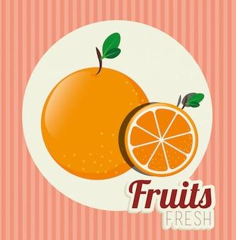 Ilustración de alimentos saludables de frutas