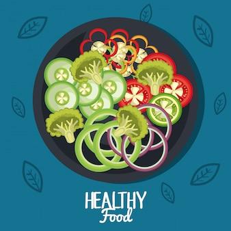 Ilustración de alimentos saludables