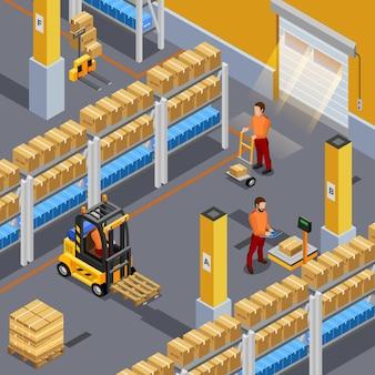 Ilustración de almacén interior