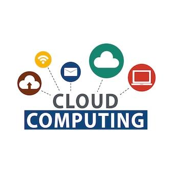 Ilustración de almacenamiento en la nube