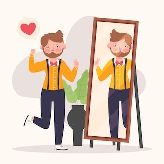 Ilustración de alta autoestima