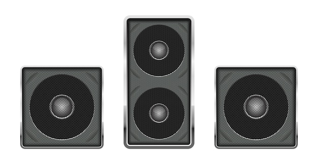 Ilustración de altavoz de audio sobre fondo blanco.