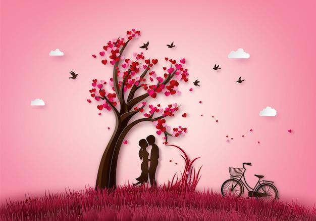 Ilustración de amor y día de san valentín.