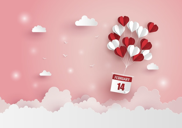 Ilustración del amor y el día de san valentín,