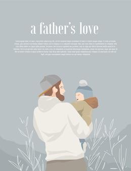 Ilustración de amor de padre