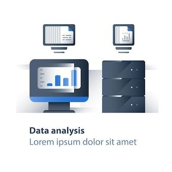 Ilustración de análisis de datos grandes