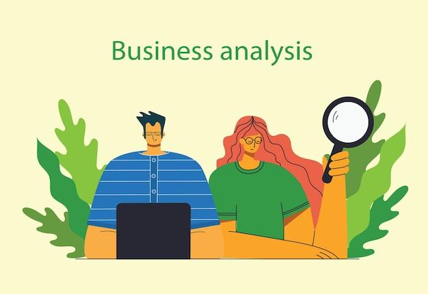 Ilustración de análisis empresarial