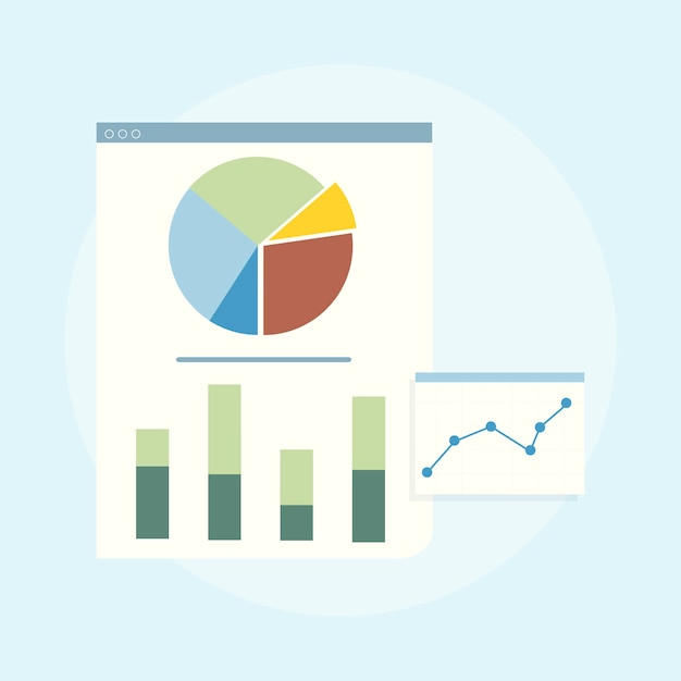 Ilustración del análisis gráfico de negocios