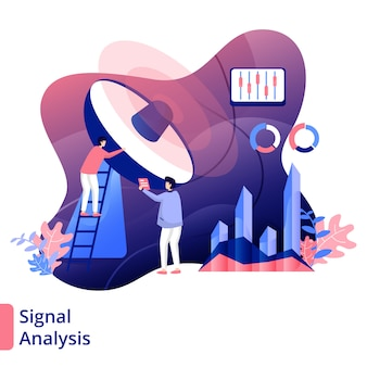 Ilustración de análisis de señal estilo moderno
