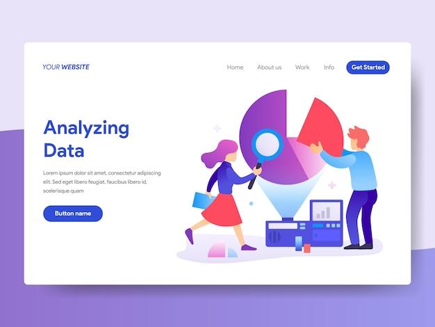 Ilustración de analista de datos para la página de inicio