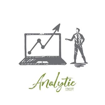 Ilustración analítica en dibujado a mano