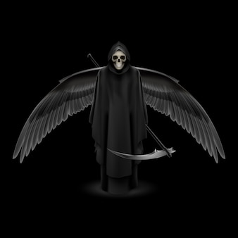 Ilustración del ángel de la muerte