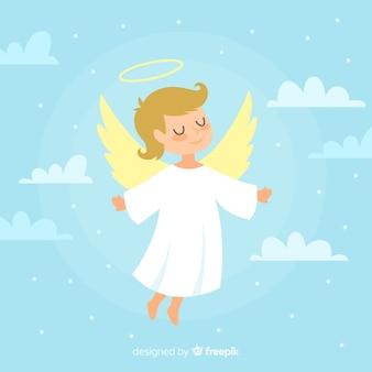 Ilustración ángel navidad mono