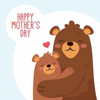Ilustración animal para el día de la madre