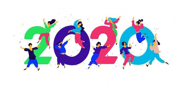 Ilustración año nuevo 2020.