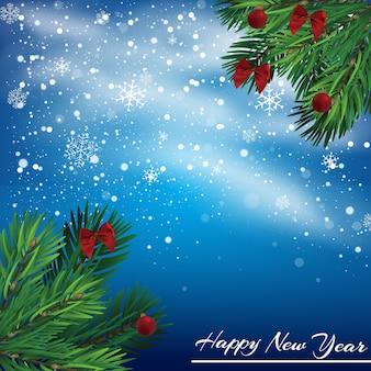 Ilustración de año nuevo de navidad