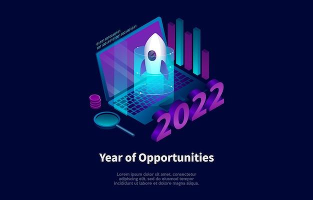 Ilustración del año de oportunidades