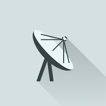 Ilustración de la antena de satélite