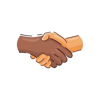 Ilustración de apretón de manos