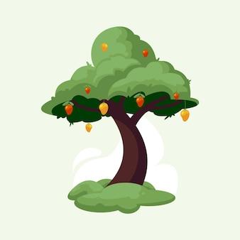 Ilustración de árbol de mango
