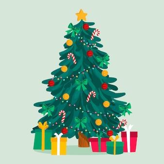 Ilustración de árbol de navidad 2d