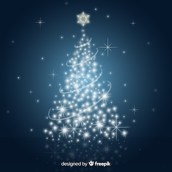 Ilustración árbol de navidad brillante