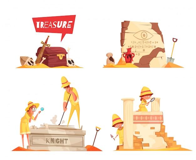 Ilustración de arqueología