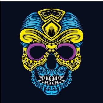 Ilustración del arte del cráneo
