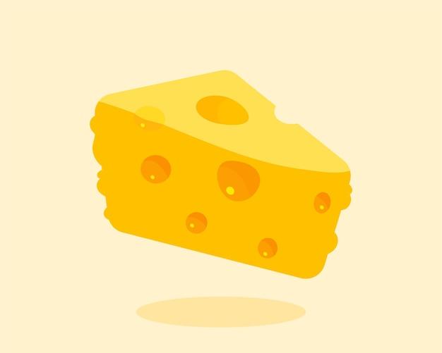 Ilustración de arte de dibujos animados aislado de queso