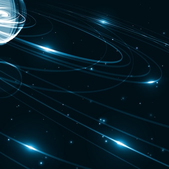 Ilustración de arte espacial futurista abstracto