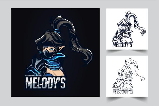 Ilustración de arte de esport de melody
