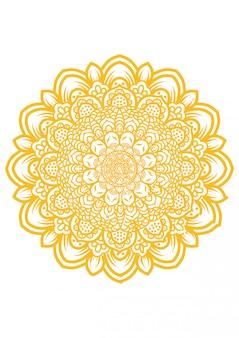 Ilustración de arte mandala