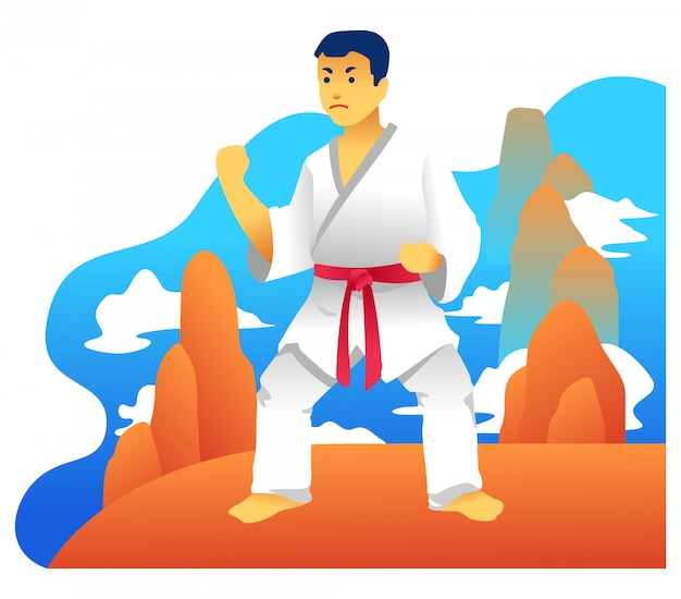 Ilustración de arte marcial