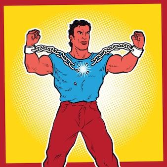 Ilustración de arte pop de libertad.