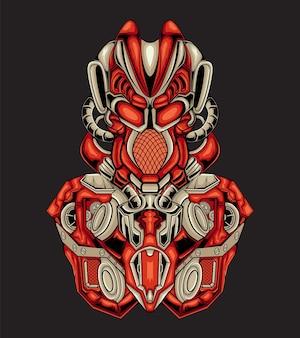Ilustración de arte de robot de android