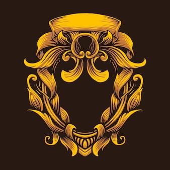 Ilustración de arte de vector de adorno de oro