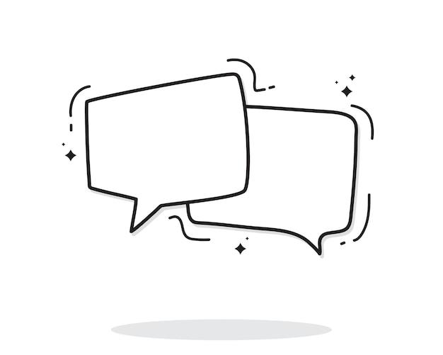 Ilustración de arte de vector de burbuja parlante