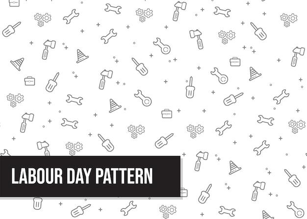 Ilustración de arte de vector de fondo de patrón de día del trabajo