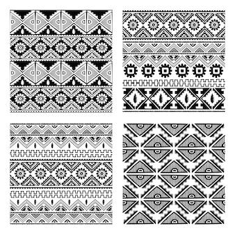Ilustración de arte de vector de tema nativo sin patrón étnico tema