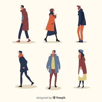 Ilustración artística con concepto de otoño