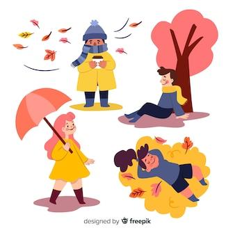 Ilustración artística con diseño otoñal