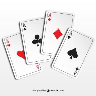 Ilustración ases de póquer