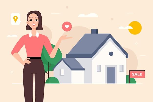 Ilustración de asistencia inmobiliaria