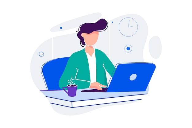 Ilustración de asistente de internet