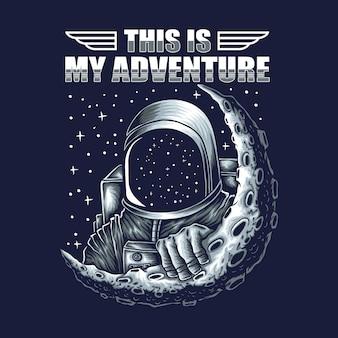 Ilustración de astronauta de aventura