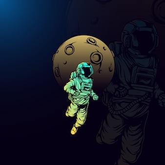 Ilustración de astronauta