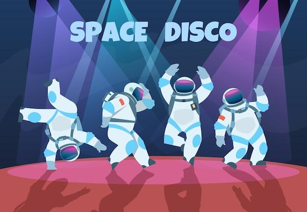 Ilustración de astronautas de fiesta